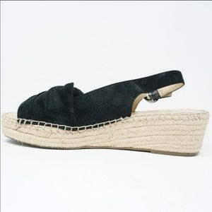 Franco Sarto Shoes - FRANCO SARTO Pixie Black Suede Knotted Espadrille
